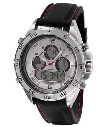 Sportovní hodinky sdvojím zobrazením časových údajů