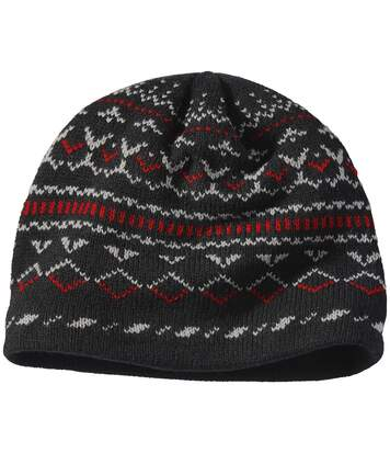 Men's Black Fleece-Lined Knitted Hat