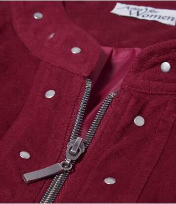 Jacke aus pfirsichweicher Wildlederoptik