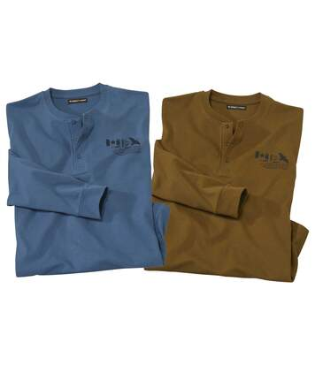 2er-Pack stilechte Henleyshirts