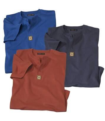 Lot de 3 Tee-Shirts à Col Tunisien Atlas(R)