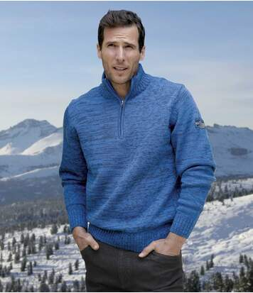 Sweter z kołnierzem na suwak Góry Skaliste
