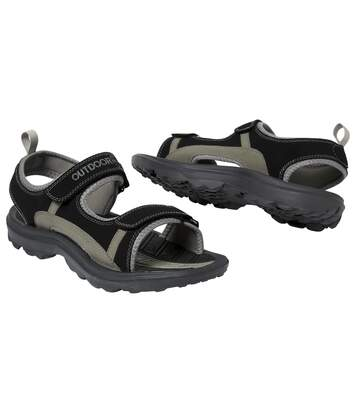 Men's Black Expedition Sandals