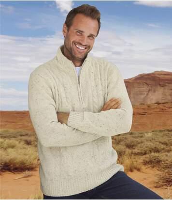 Пуловер с Воротником-стойкой на Молнии фото