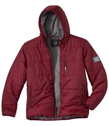 Men's Snow Time Red Puffer Jacket