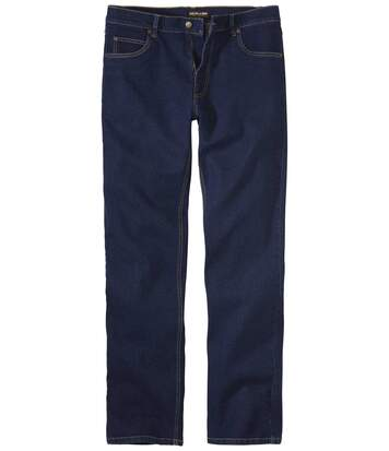 Blaue Stretch-Jeans mit Regular-Fit
