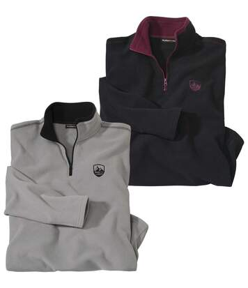 Set van 2 warme microfleece sweaters