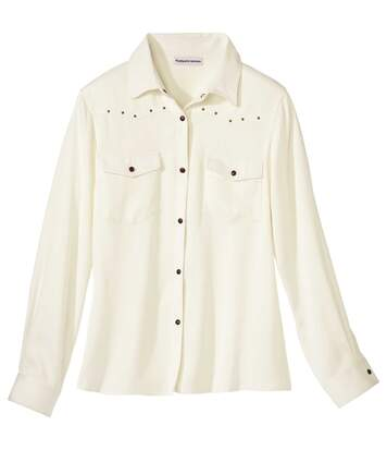 Women's Ecru Twill Overshirt