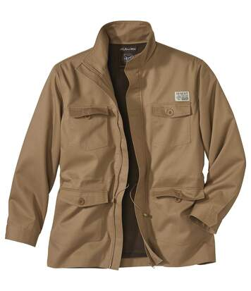 Men's Full Zip Camel Safari Jacket