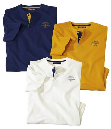 3er-Pack Henleyshirts Colorado