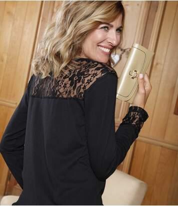 Блуза с Кружевными Вставками от Atlas For Men