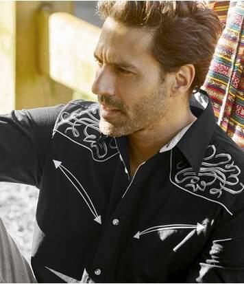 Černá košile ve westernovém stylu