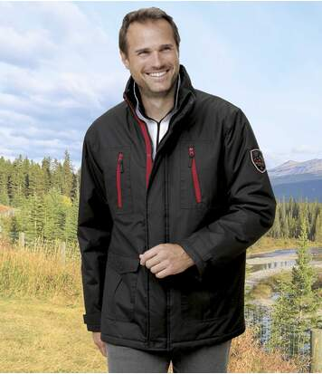 Men's Black Sport Mountain Parka