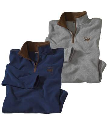 2er-Pack Pullover Country Western aus Microfleece