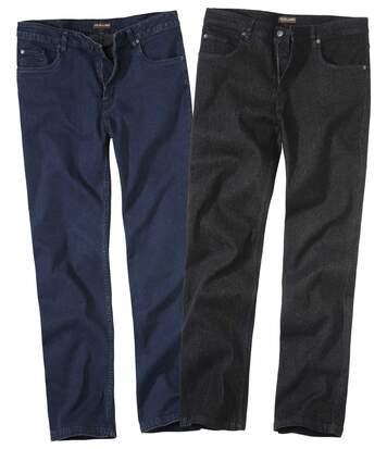 Sada 2 strečových džínů