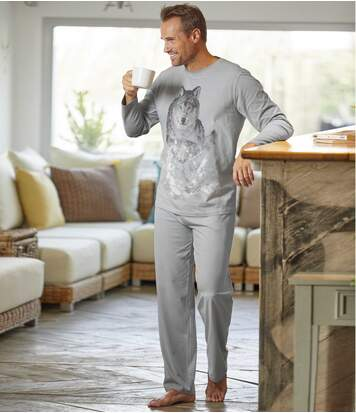 Men's Grey Wolf Pyjamas