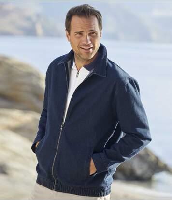 Jeans-Jacke mit Reißverschluss