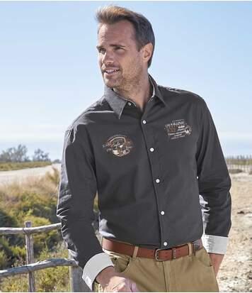 Men's Adventurer Grey Poplin Cotton Shirt