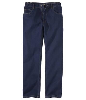 Blaue Stretch-Jeans mit Regularschnitt