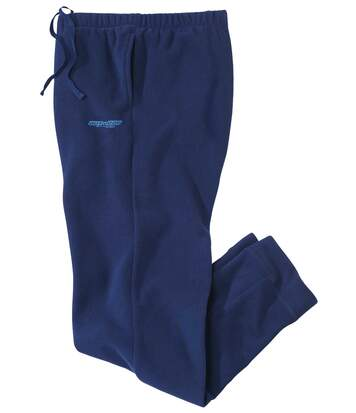 Men's Navy Microfleece Lounge Trousers