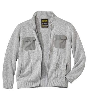Pletený sveter na zips Outdoor