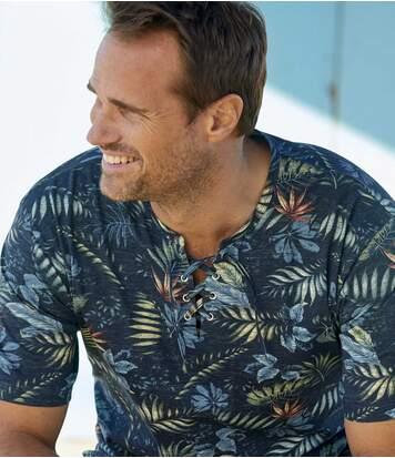 T-Shirt Tropical mit Schnürung